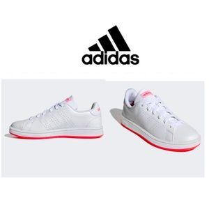 Adidas Advantage Base Sneakers Shoes White/Pink 10